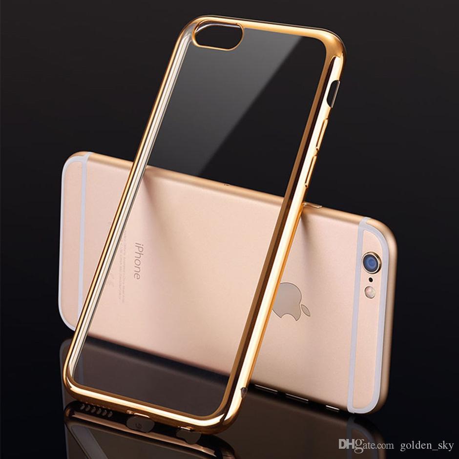 Temizle Vaka Ultra ince Kaplama Yumuşak TPU Defender Elektro Telefon Kılıfları Kapak iphone X 8 7 6 6 S Artı 5 5 S SE