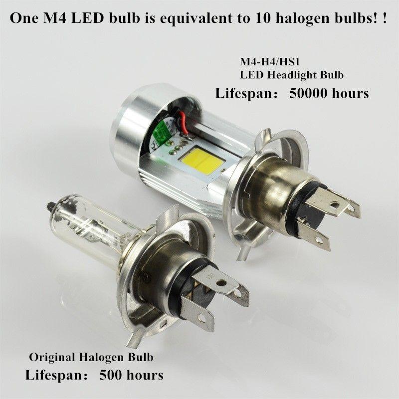 Pampsee h4 led scheinwerfer hs1 led motorrad lampen led motorrad moto licht high low 20 watt cob 12 v 6500 k 2500 k motorrad scheinwerfer m4
