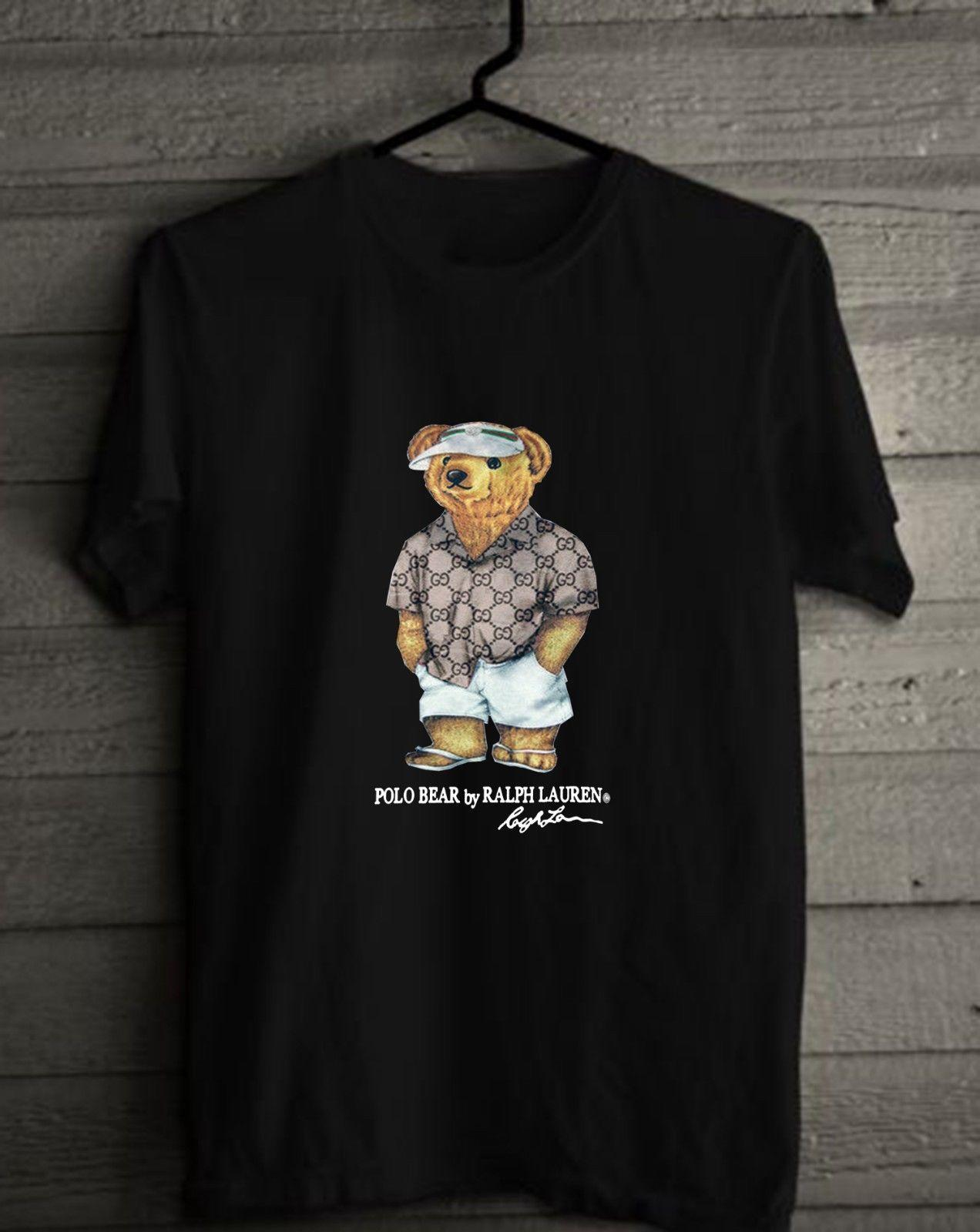 67a7edebc4d894 Men's Clothing Shirts Vintage RARE Polo Lauren Sport Bear T-Shirt SIZE  S-2XL REPRINT