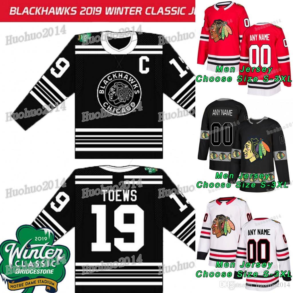 2019 2019 Winter Classic Chicago Blackhawks Jonathan Toews Patrick Kane  Duncan Keith Bobby Hull Brandon Saad Seabrook Chris Kunitz Hockey Jersey  From ... b2a613840