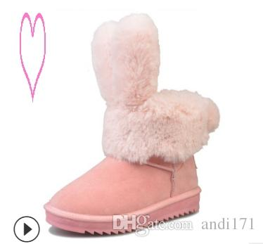 ebbb22f6b2fe 109Classic Women Winter Boots Suede Ankle Snow Boots Female Warm Fur ...