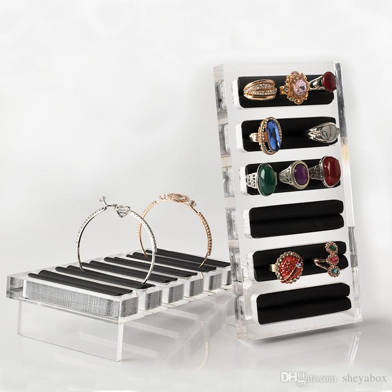 Acrylic Jewelry Bangle Ring Organizer Home Boutique Counter Shelf Desktop Jewellery Rings Kiosk Booth Exhibition Display Prop Stand