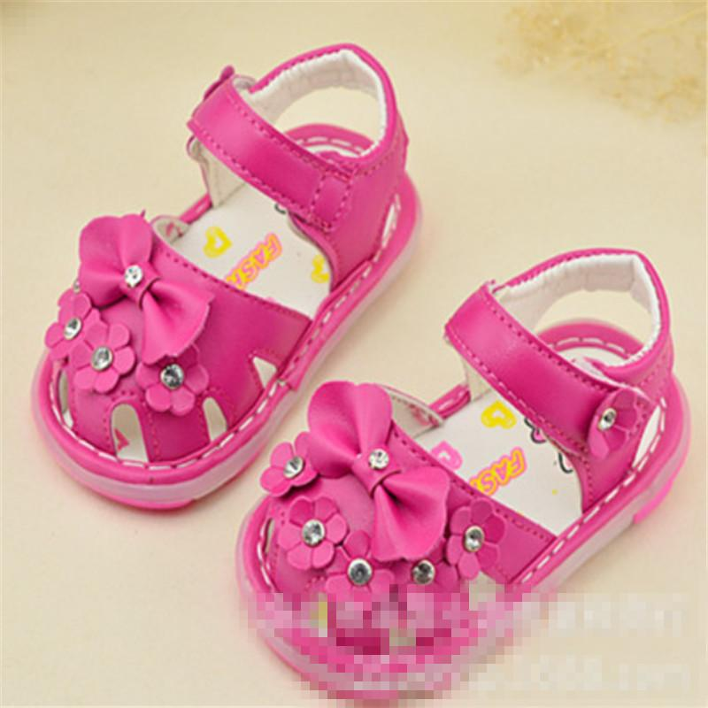 4443e07fa24 Baby Girls Sandals Kids Summer LED Lightening Leather Shoes Baby Child  Summer Flowers Bowtie Princess Shoes Soft Sole Hook Loop Kids Shoe Boots  Little Girl ...