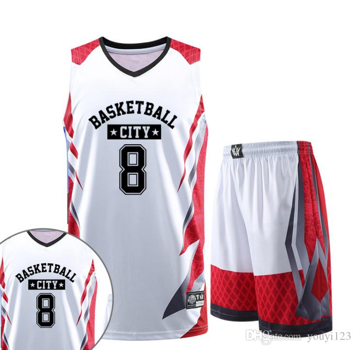 7b35f1b6a8f7 New Basketball Uniform Suit Children s Student Group Competition Training  Team Uniform Custom Vest Shorts Sports Jersey Basketball Jersey Online with  ...