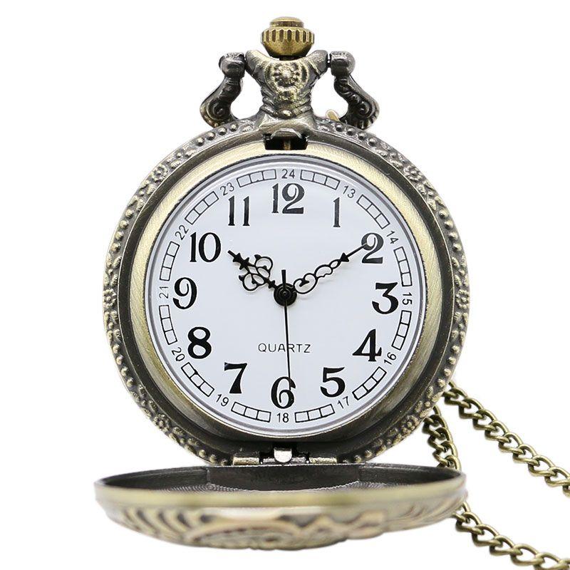 0bbbe1fe2a6 Compre Relógios De Bolso De Relógio De Bolso De Relógio De Bolso De Relógio  De Bolso Antigo De Bronze 3D De Hiwatch