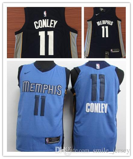 Mens 11 Mike Conley Memphis Jersey Grizzlies Basketball Jersey Authentic Stitched  Mesh Dense AU Grizzlies Mike Conley Basketball Jerseys Mike Conley Jersey  ... ae1ec7f12