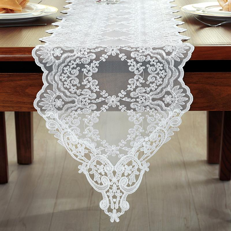 Thai Embroidered Lace Table Runner European Style White Table Cloth  American Tv Cabinet Coffee Pastoral Runner Satin Table Runners Short Table  Runner From ...