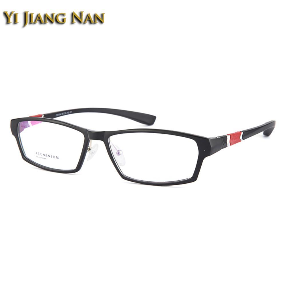 Compre Yi Jiang Nan Marca Vidros Ópticos Armações De Espetáculo De Alumínio  E Liga De Magnésio Quadro Lente Transparente Dos Homens Esporte Estilo  Óculos De ... a04a47489e