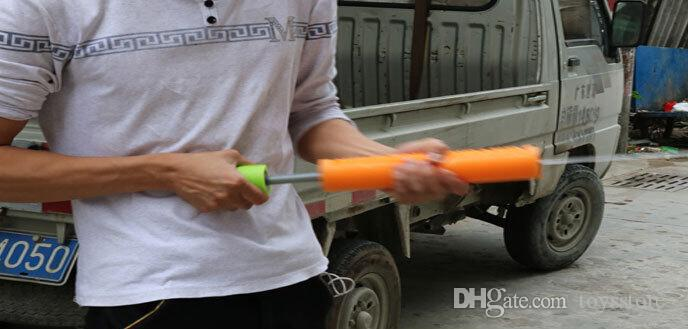 Série de pistolet à eau pour enfants colorés Fume Pull type EVA mousse tirée pompe à eau pompe jouet 3 tailles