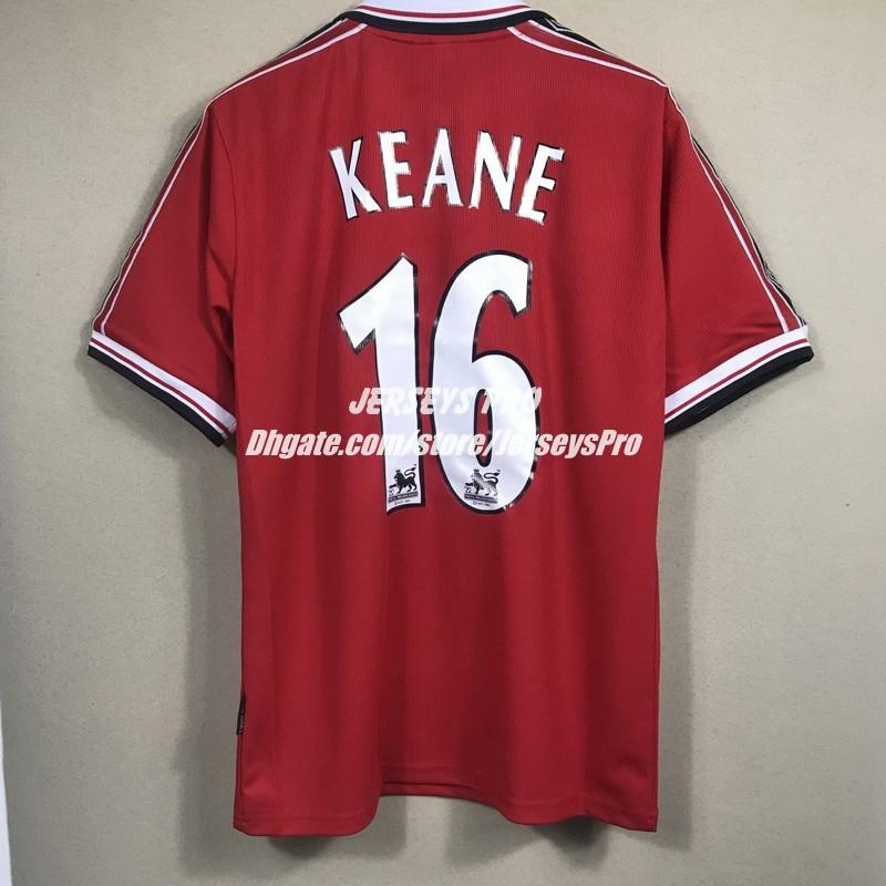 c382273fed7 2019 Roy Keane 1998 1999 98/99 Retro Soccer Jerseys Camiseta Old Trafford  Home Red Football Shirts Tops Maillot De Foot Maglia Di Calcio From  Jerseyspro, ...