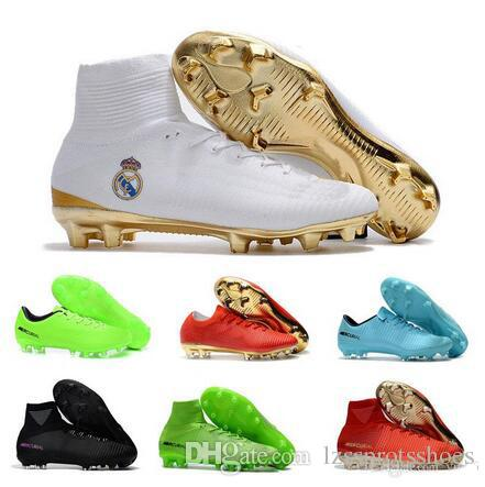 2017 neue CR7 Kinder Fußball Schuhe Rot Gold Mercurial Unisex Superfly V Fußballschuh Cristiano Ronaldo Männer Kinder fußballschuhe Magista Obra