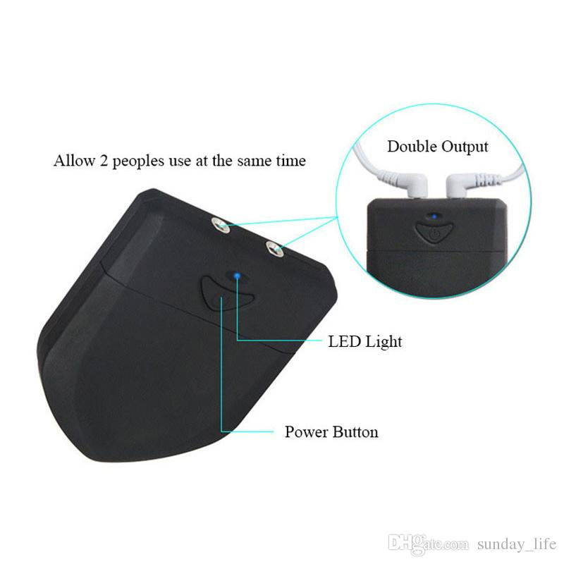 Envío libre !!! remoto Control Host descarga eléctrica de salida Electro Estimulación doble inalámbrica PowerBox Médico Electro choque juguete del sexo