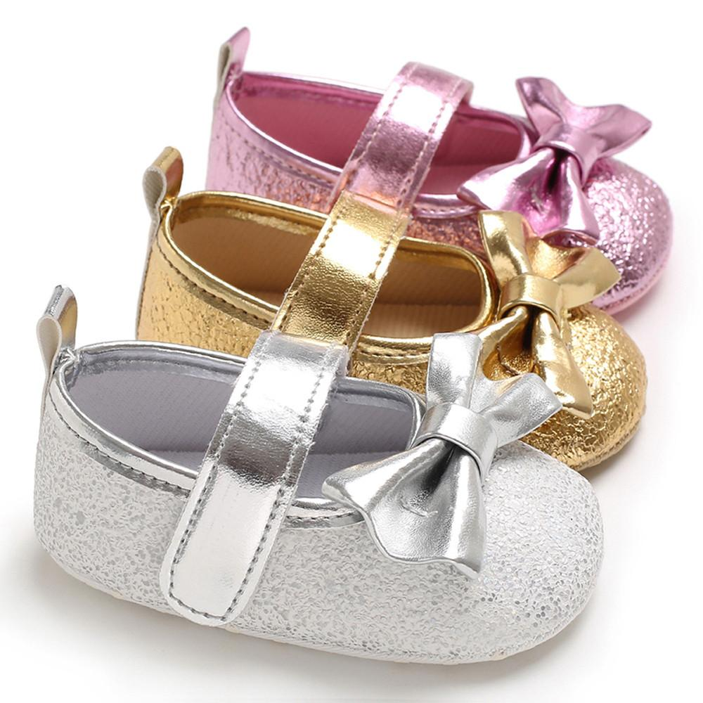 Autumn Glitter Sequins Soft Sole Baby Girl Shoes Anti Slip Bow Gold Silver  Walkers Toddler Infant Prewalker Shose White Tennis Shoes For Girls Girls  White ... f1d33433fc1d