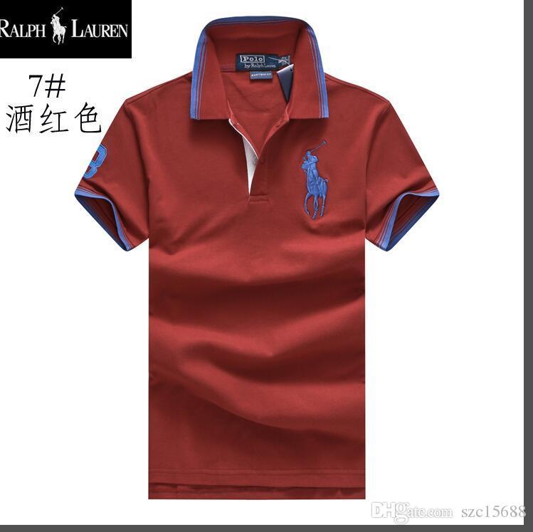 Compre HOT 2018 Dos Homens Casual Listrado T Shirt Nova Moda Lapela POLO  Camisa Designer De Marca De Luxo Bordado Impressão Algodão De Alta  Qualidade T ... 40ee973b4f8