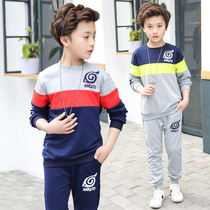 c01a26f47 2019 Spring Boys Clothes Sport Suit Casual Boys Clothing Sets 2018 ...