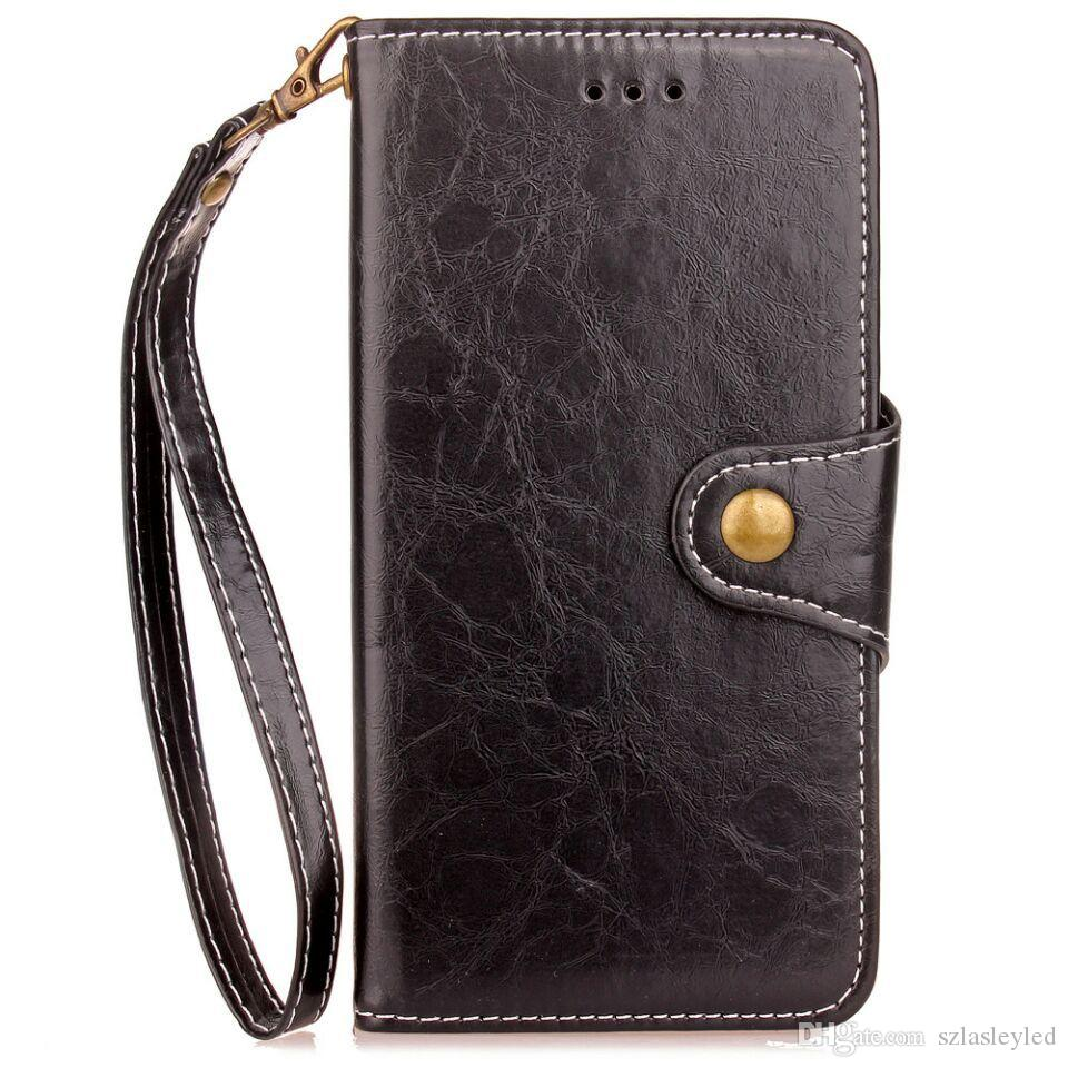 hot sale cell phone case super slim card holder flip cover vintage wallet leather case for iphone x 8 plus sasmsung galaxy note 8
