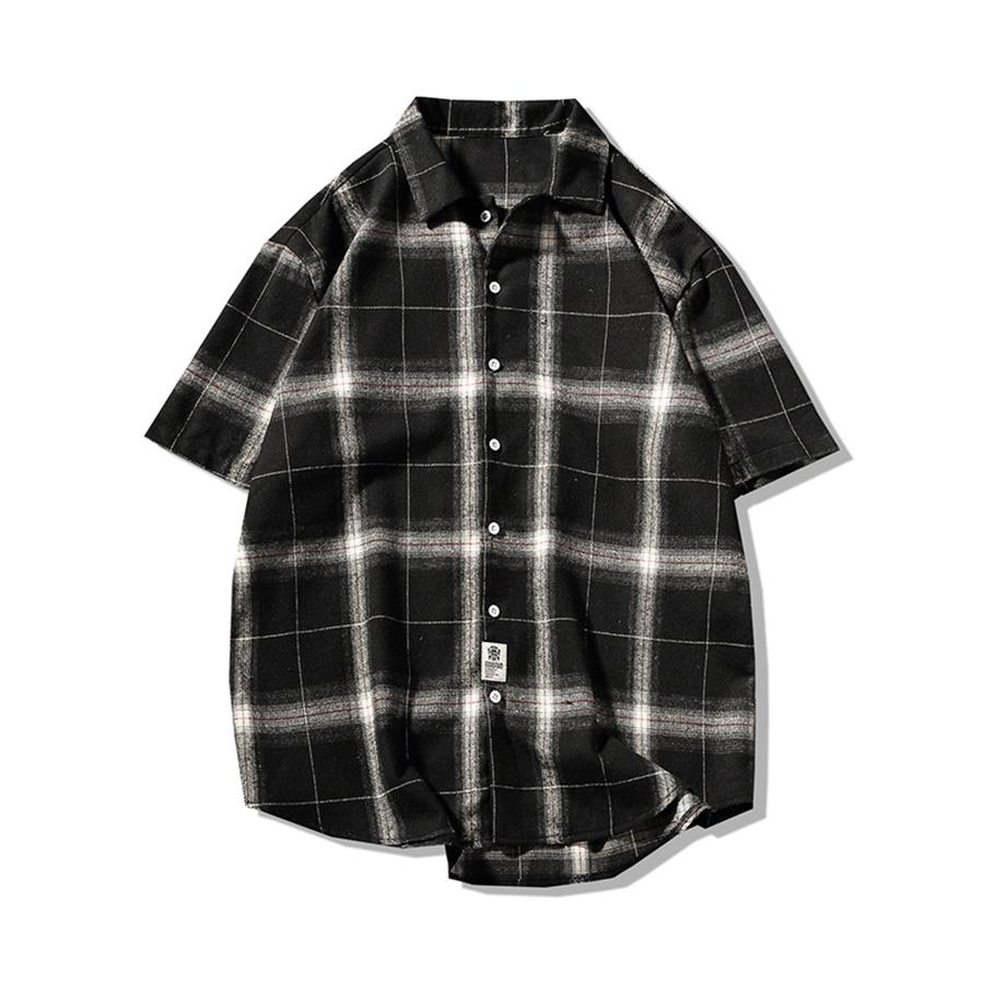 d4979c212b5 Summer Casual Men Shirts Short Sleeve 2018 Korean Oversized Shirt ...