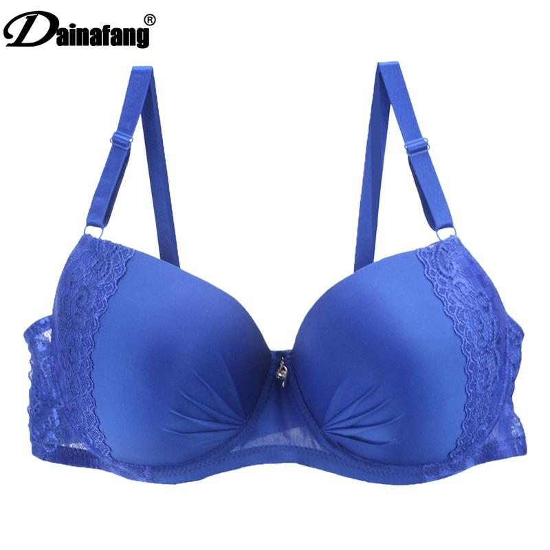 710e07c1301 2019 DAINAFANG New Plus Size Women Sexy Lingerie Push Up Lace Bra Large  Ladies For Deep Underwear V Luxury Brasilia 44 50 D DD E From Bclothes001