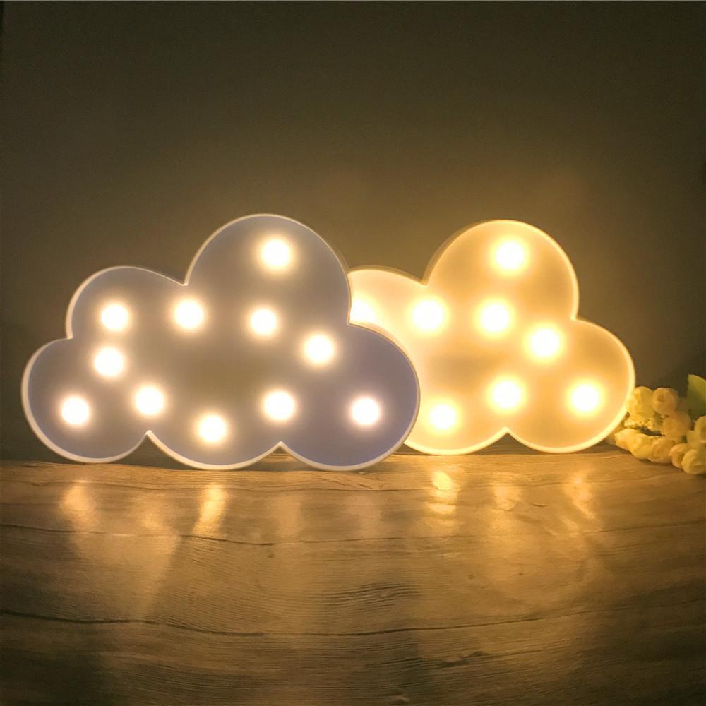 acheter 11 led belle blanc / bleu nuage lumière nuit chaud blanc