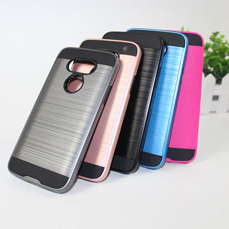 Armor Phone Case For ZTE Tempo X N9137 Boost For Zte Avid 4 Metropcs For  ZTE Blade V580 Brushed Dual Layer Shockproof Cover