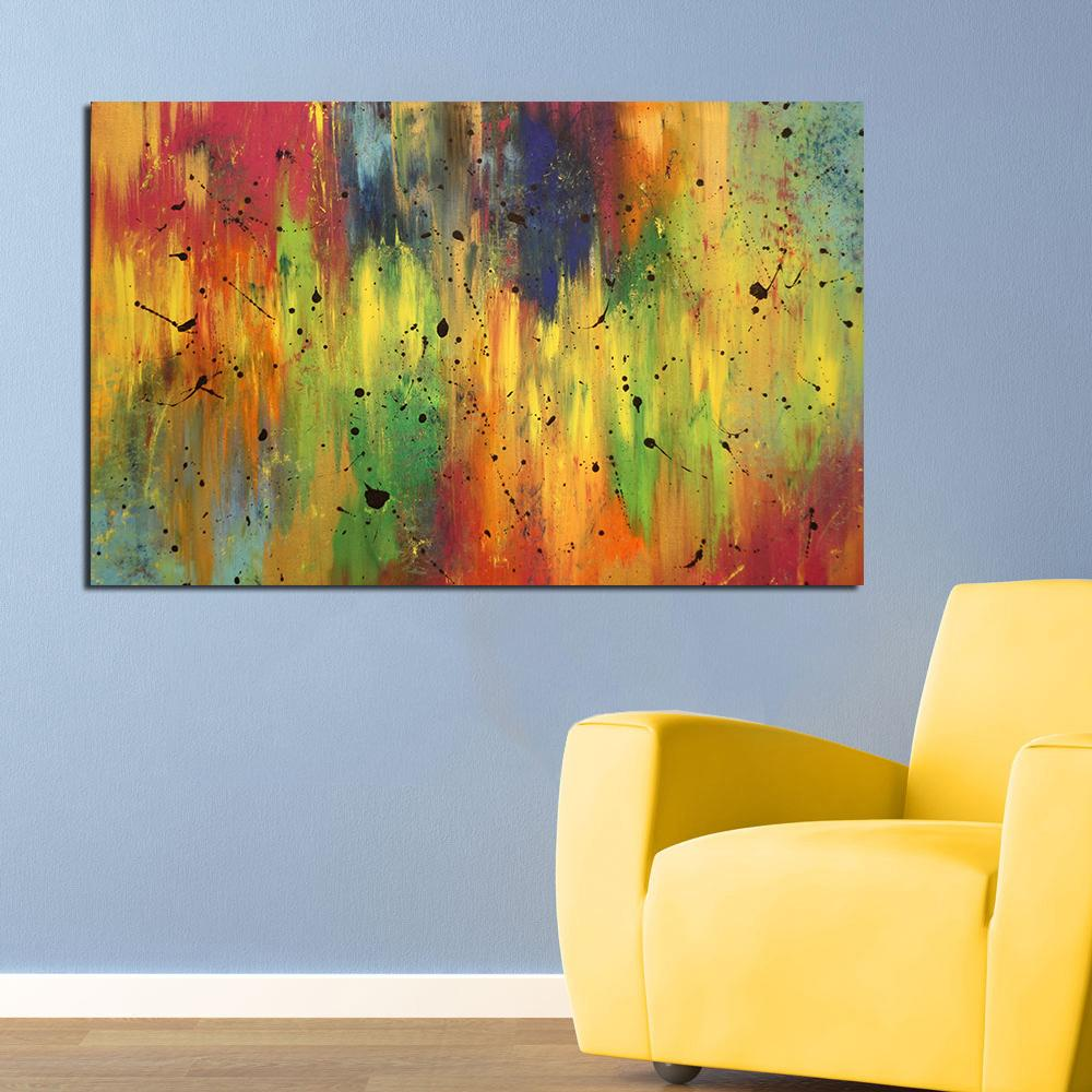 Online Cheap Wall Art Oil Painting Colorful Abstract Home Decor Wall ...