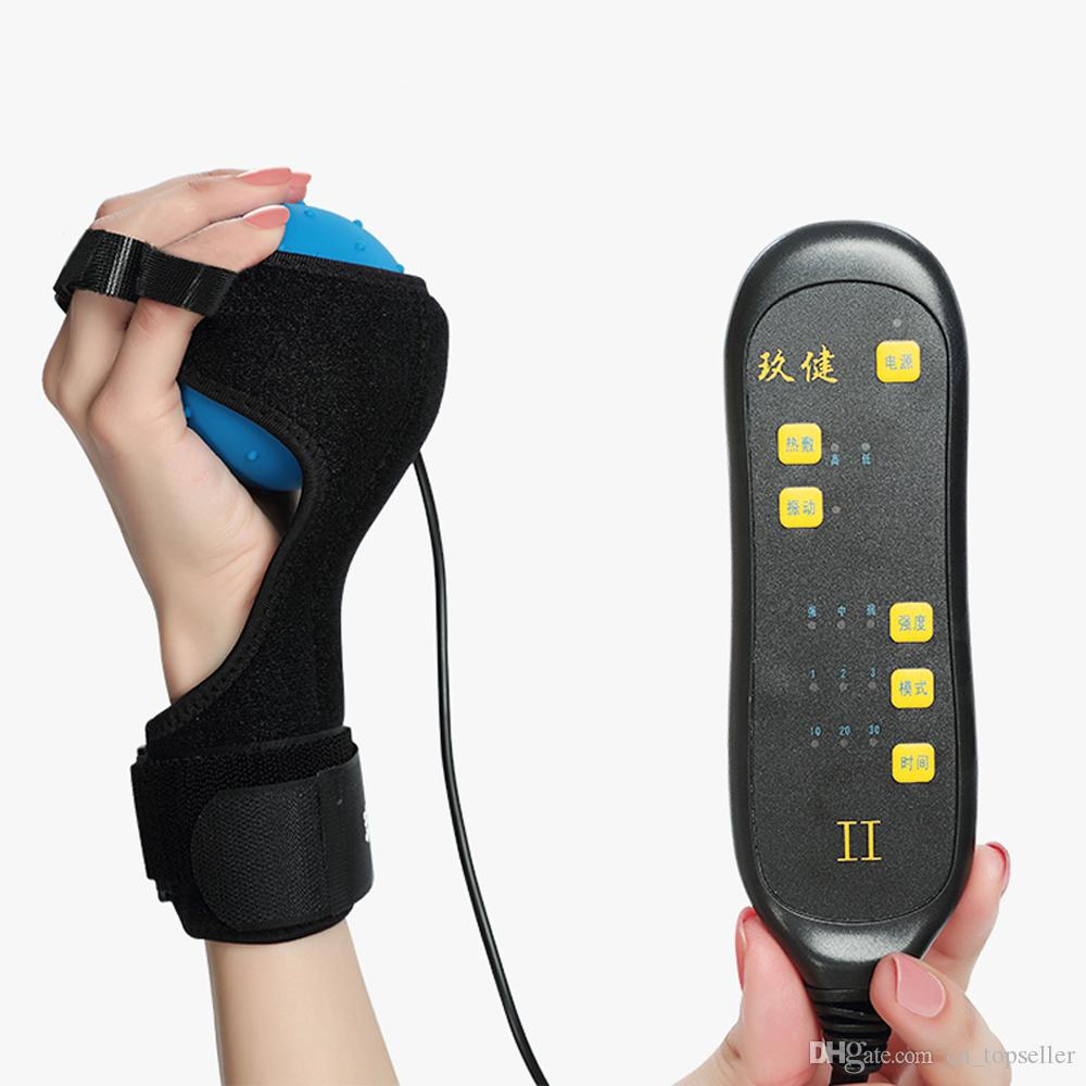 Multifunctional Electric Hot Compress Stroke Hemiplegia Fingers Recovery Massager Infrared Therapy Ball Finger Massage Rehabilitation Passiv