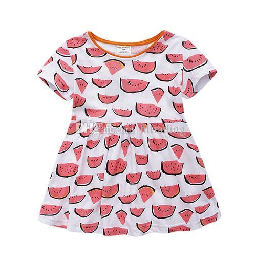 561ec4939 ... Meninas do bebê dinossauro animais Dot imprimir vestido crianças tarja  vestidos de princesa 2018 verão Boutique. Promessa do vendedor