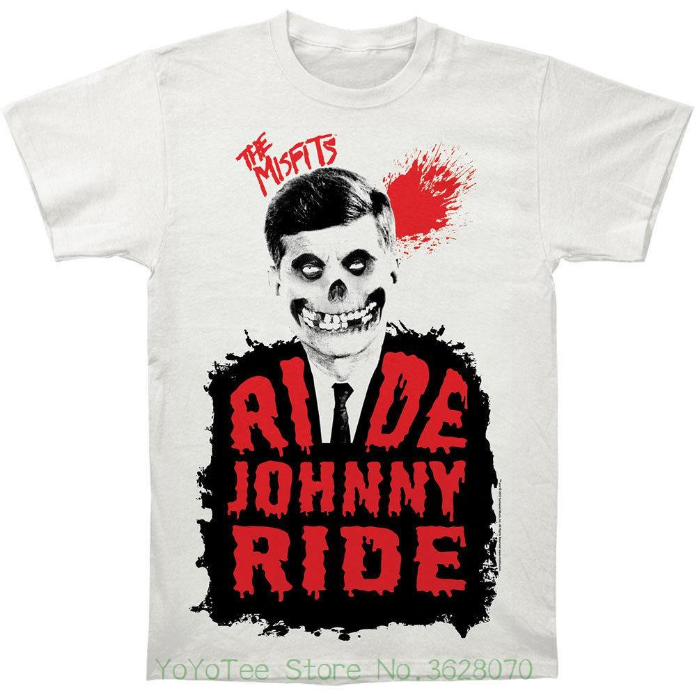 Fashion Logo Printing T Shirts Misfits Men' ; S Ride Johnny Ride Subway T-shirt Vintage
