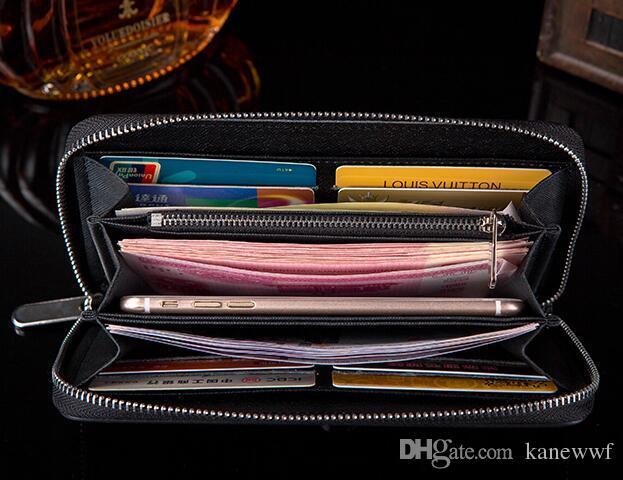 Livraison gratuite Vente Chaude En Gros et au détail 2016 nouveau PU Cuir hommes et femmes portefeuilles sac à main porte-cartes 6 couleur pour pick sacs à main 60017