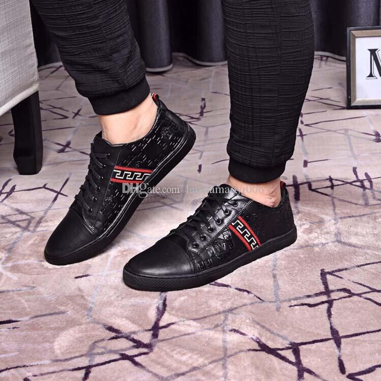 Cordones Pisos Zapatillas Hombres Compre Los Invierno Con Cuero Casuales De Negro 2018 Moda Oxfords Nuevos Zapatos wvS8qwZp