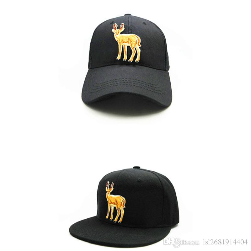 dc5931f513b54 LDSLYJR 2018 Deer Animal Embroidery Cotton Baseball Cap Hip Hop Cap  Adjustable Snapback Hats For Kids And Adult Size 249 Richardson Hats  Headwear From ...