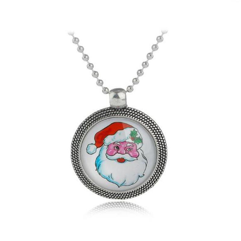Collana di gioielli di Natale Albero di Natale Babbo Natale Slitta Boot Pendente pupazzo di neve il regalo di Natale