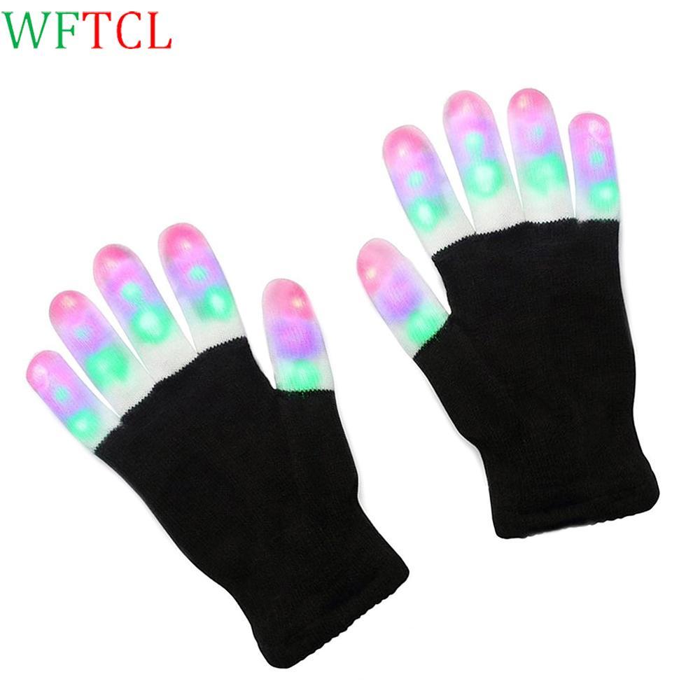 2018 Led Gloves Flashing Fingertip Light Toys Novelty Christmas Gift ...