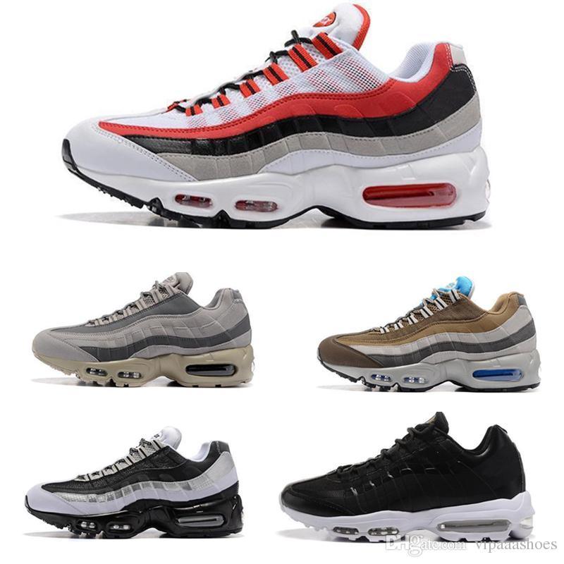 c13daf1b2670 Acheter Nike Air Max 95 ESSENTIAL Airmax 95 NOUVEAU Design Drop Shipping En  Gros Chaussures De Course Hommes Coussin 95 Sneakers Bottes Authentique  Nouvelle ...