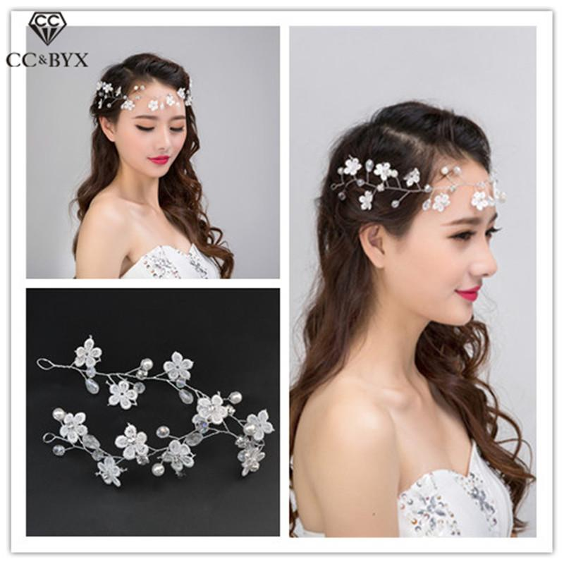 Cc Wedding Jewelry Hairbands Headbands Flower Crystal Engagement