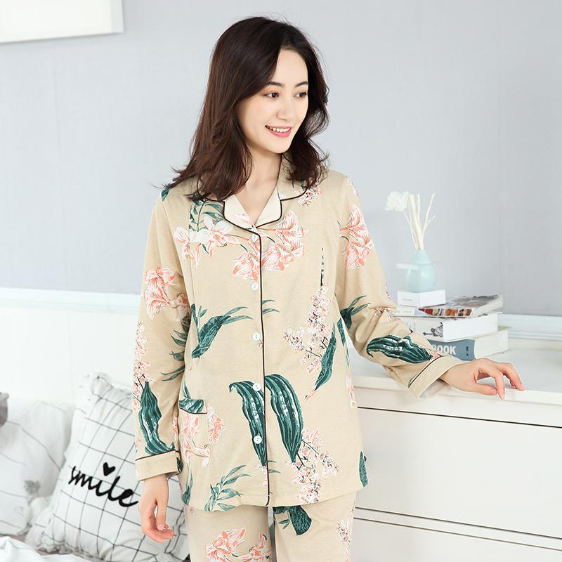 bd1510bc89 2019 Pregnant Women Cotton Pajamas Postpartum Out Home Nursing Maternal Lactation  Breastfeeding Clothing Suits Spring Sleepwear From Namenew