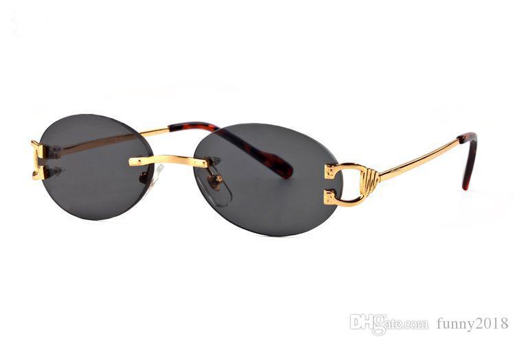 cf8e03bec610 Designer Sunglasses Brand Glasses Rimless Outdoor Shades PC Frame ...