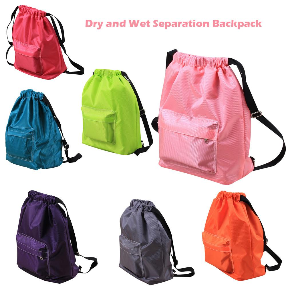 d13f1eefeecd Swimming Swim Pool Waterproof Dry and Wet Separation Drawstring Backpack  Simple Casual style shoulder bag Hot#40