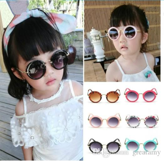 3e0b349cd6 2019 Fashion Kids Little Boys Girls Women Young Children Retro Anti UV400  Sun Shades Infant Goggles Eyeglasses Sunglass From Greatamy