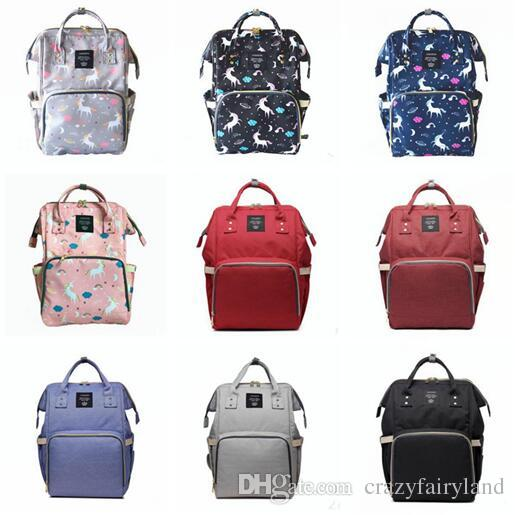 d62d2bdf1fac 2019 Baby Diaper Bag Backpack Large Capacity Nappy Changing Bags For Mom  Daddy Multi Functional With Waterproof Fabric 18 Styles From Double hh