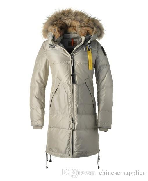 acf86bb83 2018 Winter Luxury Women Light Long Bear Down Jacket for Women Slim  Windproof Warm Long Coats with Big Fur Trim Hooded Parkas