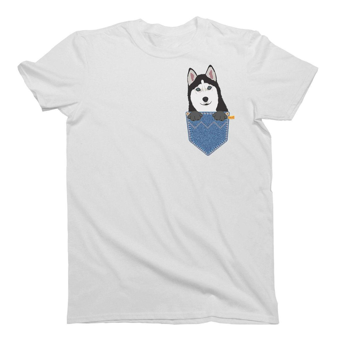 dad51e5f Siberian Husky Pocket Dog Birthday Gift T Shirt Mens Ladies Unisex Fit Funny  T Shirts For Women Funny Shirt From Lijian14, $12.08| DHgate.Com