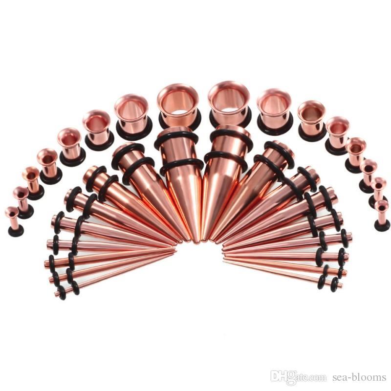 / set 6 styles hot ear jauge conique et plug étirement des kits chair chair tunnel expansion corps piercing bijoux boucle d'oreille 14G-00G G79L