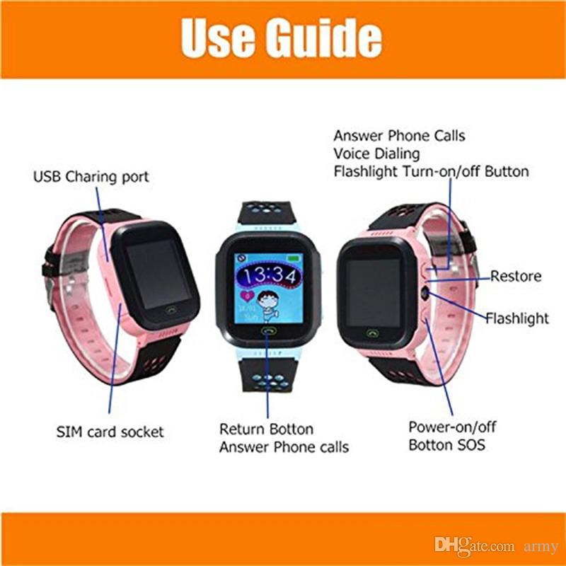 2019 Cute Sport Q528 Kids Tracker Smart Watch with Flash Light Touchscreen SOS Call LBS Location Finder for kid PK Q50 GPS tracker in box