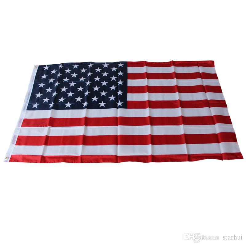 Bandiere della bandiera della banda blu della linea blu della bandiera americana di 90 * 150cm Bandierina rossa a strisce di USA con le bandiere dell'insegna della stella WX9-219