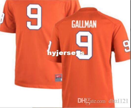 47c4d1afd4d 2019 Cheap Men  9 Orange White Wayne Gallman Clemson Tigers Alumni Jersey  Stitched Football Jerseys From Hyjerseys