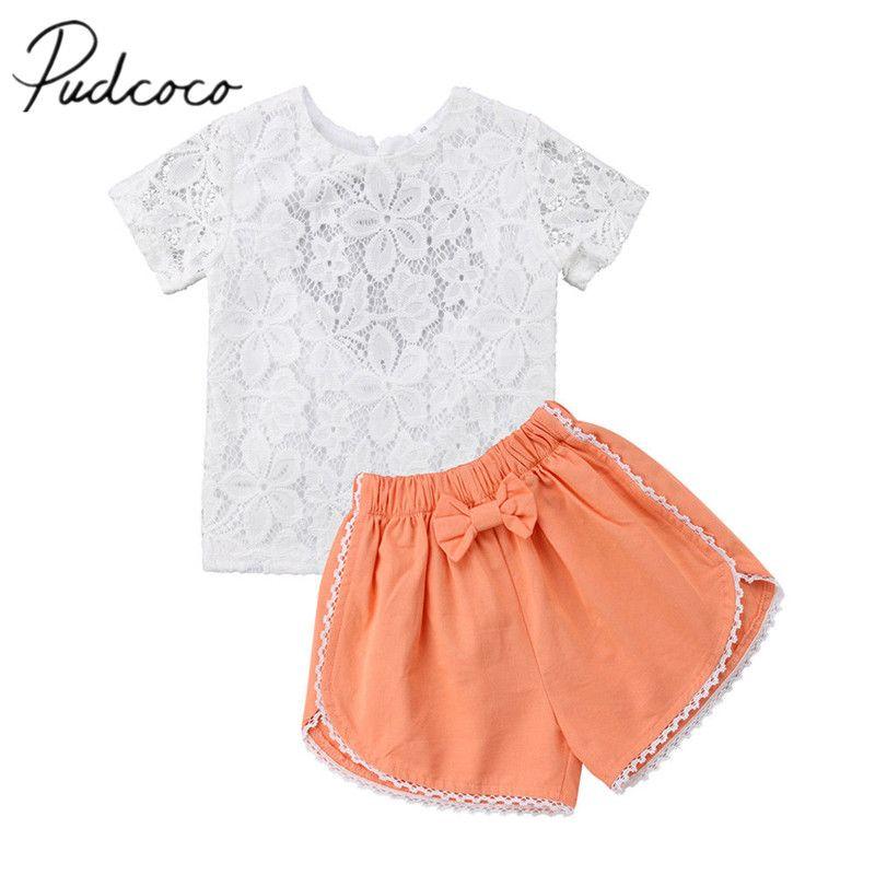 9b0ddc8fe 2018 Brand New Newborn Toddler Kids Baby Girls Summer Outfits ...