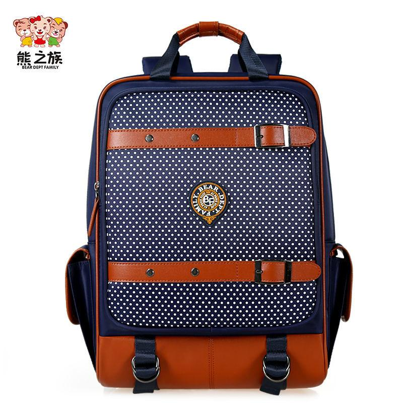 BEAR DEPT FAMILY Brand Children Orthopedic Primary School Bags Boys Girls  Students Backpacks Kids Nylon Large Capacity Backpack Y18120303 Online with  ... 45a27484d6