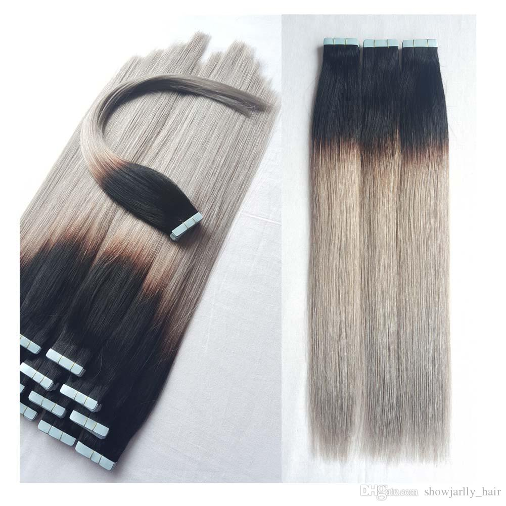 Tape In Extensions Showjarlly Remy Human Hair For Women With