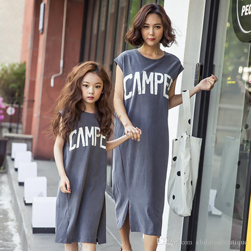 Mother And Daughter Clothes Mommy And Me Matching Family Outfits Women Girls  Clothing Family Look Matching Mother And Daughter Dresses Matching Easter  ... 96960093f2a9